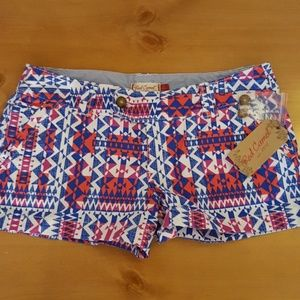 Red Camel tribal inspired shorts